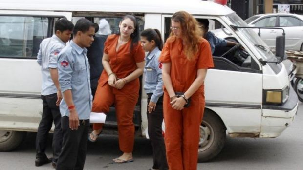 Expat women arrested for drugs in Cambodia