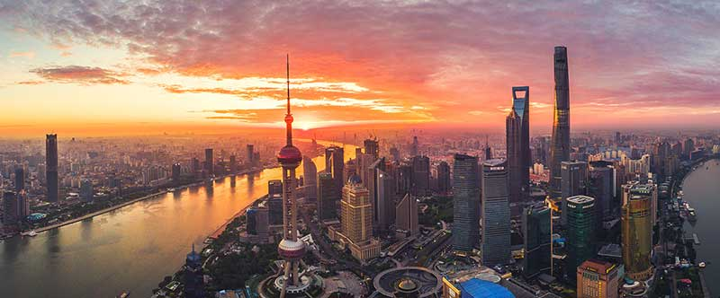 Shanghai skyline, expensive city