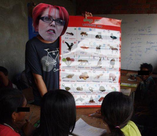 Western feminist teaching in Cambodia