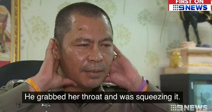 Cops testifies in THailand