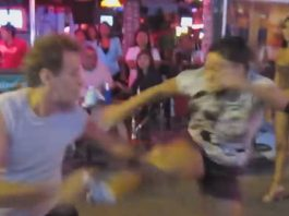 Woman does drop kick on sexpat in Pattaya