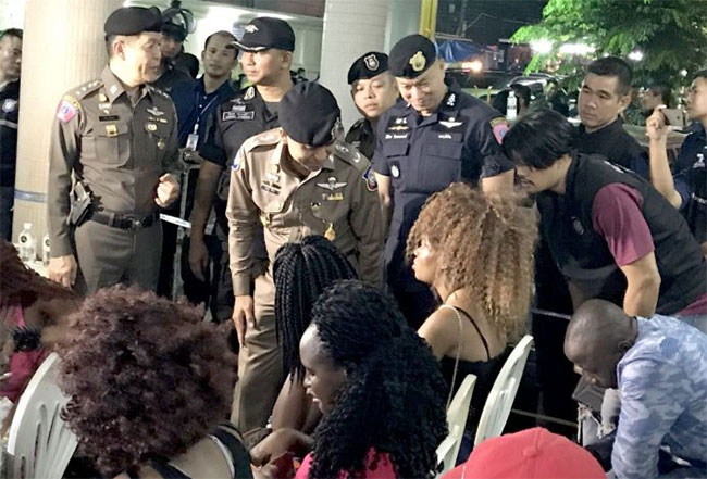 Nigerian prostitutes arrested in Bangkok